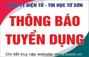 THÔNG TIN TUYỂN DỤNG THÁNG 12.2020